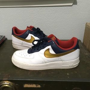 Size 10.5 Nike Air Force 1 Olympic gold medal